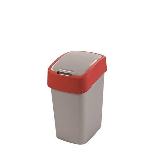 Kosz na śmieci FlIP BIN 25 l srebrny/czerwony