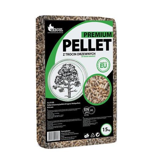 Pellet Premium Sek Pol 16,9 MJ 15 kg