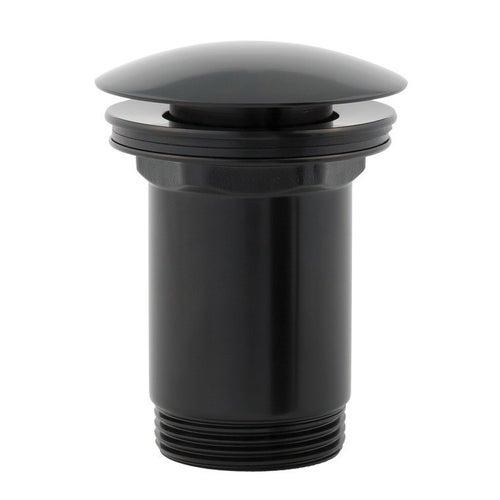 Korek klik-klak umywalkowy okrągły czarny Omnires