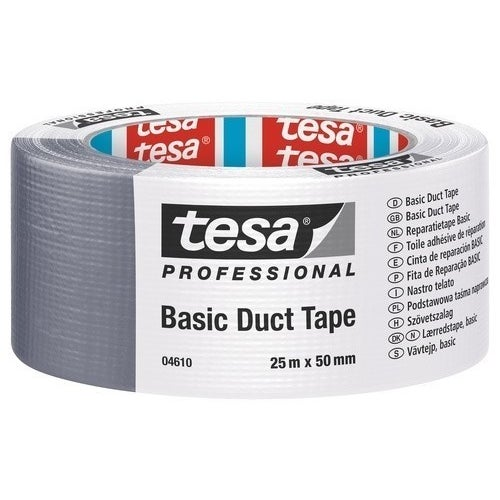 Taśma naprawcza Basic Duct Tape szara 25m x 48mm