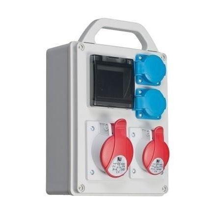 Rozdzielnica R-BOX 240 16A 3P+N+Z 400V, 32A 3P+N+Z 400V, 2x250V + zabezpieczenia