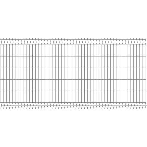 Panel ogrodzeniowy 3D antracyt, 123x250 cm, oczko 50x200 mm, drut 4 mm