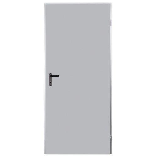 Drzwi techniczne Zk 80 cm, prawe, ocynkowane