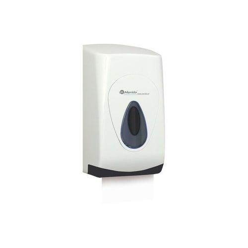 Pojemnik na papier toaletowy w listkach Merida Top z tworzywa ABS, okienko szare, tył szary , BPB401