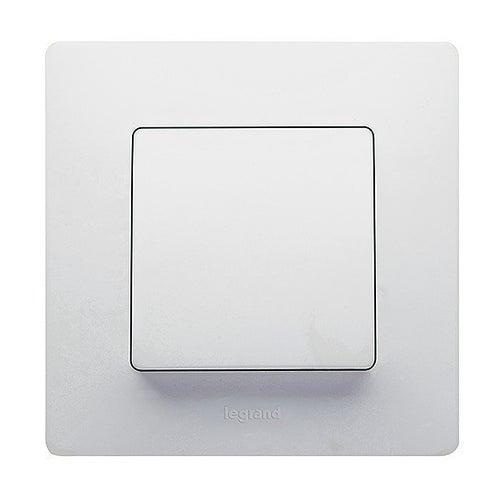 Niloe biały przycisk z ramką