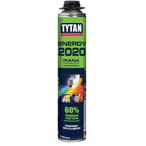 Piana poliuretanowa montażowa Tytan O2 Energy 2020 750 ml, pistoletowa