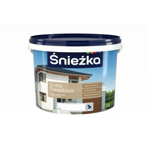 Farba emulsyjna do fasad i elewacji Śnieżka Extra Fasadowa Biała 10L