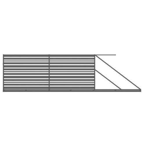 Brama przesuwna Ksenia antracyt, 150x400 cm, prawa, z automatem do bram