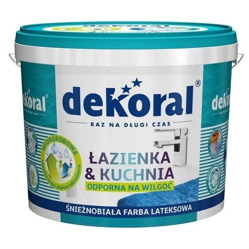 Farba Dekoral łazienka i Kuchnia biała 5l