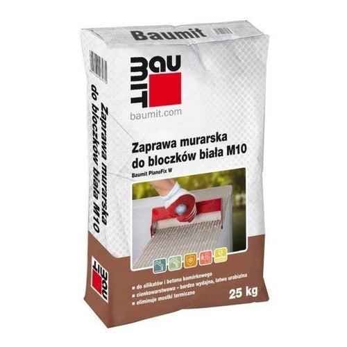 Zaprawa murarska cienkowarstwowa Baumit 25 kg, biała