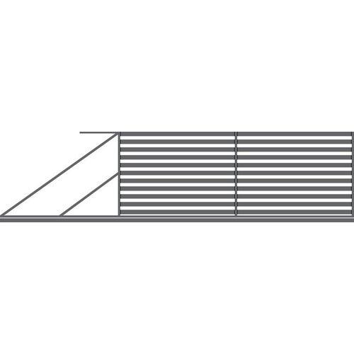 Brama przesuwna Inka antracyt, 150x400 cm, lewa, z automatem do bram