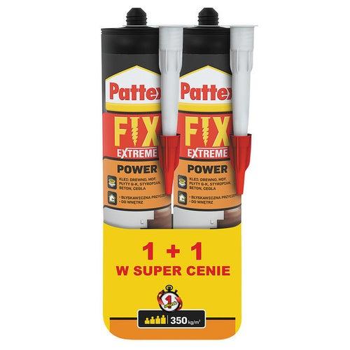 Klej montażowy Pattex Fix Extreme Power 2 sztuki x 385 ml