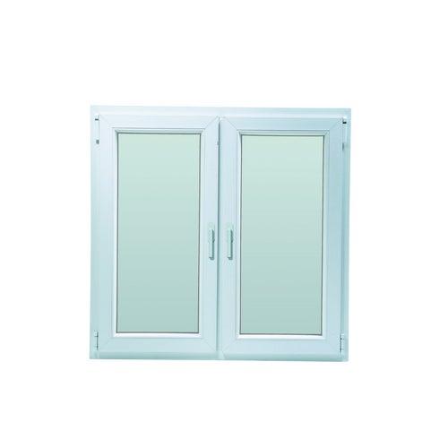 Okno fasadowe 2-szybowe  PCV O17A rozwierno-uchylne + rozwierne symetryczne lewe 1165x1135 mm białe