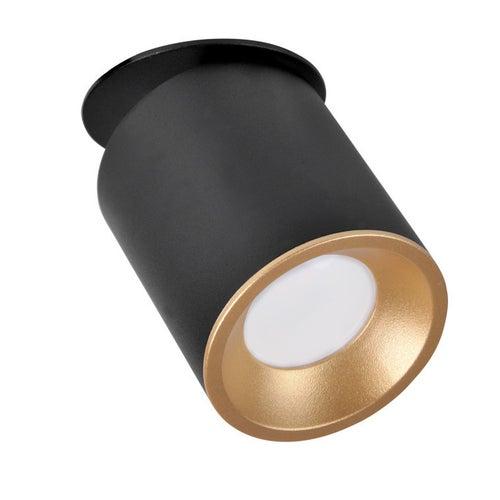 Polux oczko przegubowe podtynkowe HARON GU10 czarno-złote