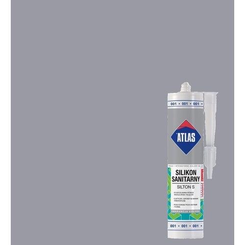 Silikon sanitarny Atlas 034 jasnoszary 280 ml