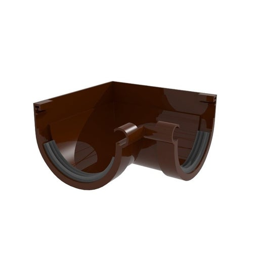 Łącznik kątowy wewnętrzny G80, brązowy PVC Scala Plastics