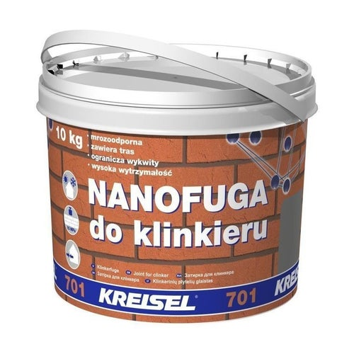 Fuga do klinkieru Kreisel 701 10 kg, jasna szara