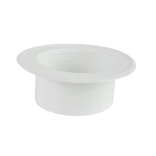 Rozeta stalowa fi 125 mm, biała