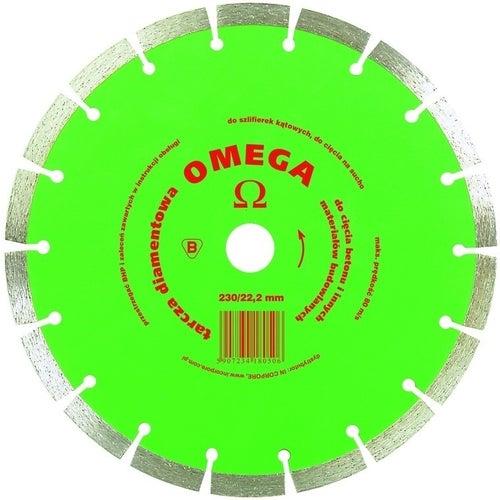Tarcza diamentowa do cięcia betonu Omega segment 230mm 22,2 mm