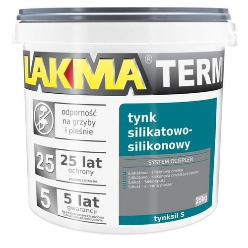 Tynk silikatowo-silikonowy Lakma 25 kg