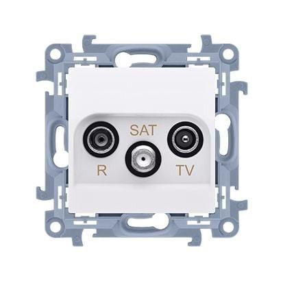 Simon 10 bialy gniazdo antenowe RTV-SAT końcowe