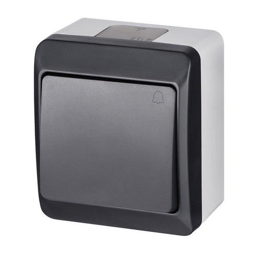 Elektroplast Hermes antracyt przycisk dzwonek IP44