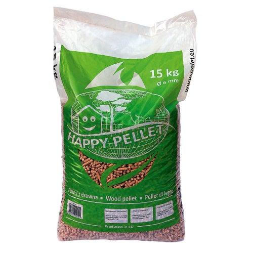 Pellet premium Happy Pellet 18,5 MJ 15 kg