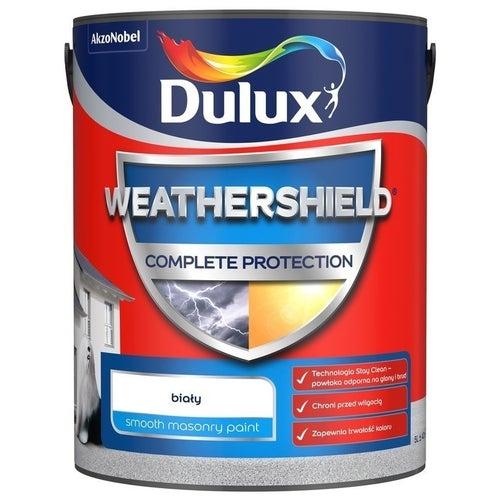 Farba fasadowa Dulux Weathershield Complete biały 5l