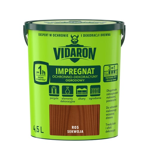 Impregnat ogrodowy Vidaron sekwoja 4,5l