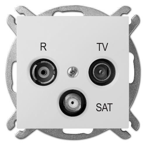 Elektroplast Senta biały gniazdo antenowe RTV-SAT końcowe