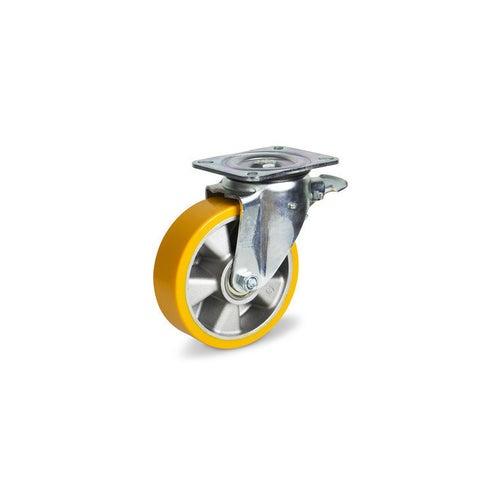 Zestaw jezdny skrętny 200 mm/500 kg z hamulcem
