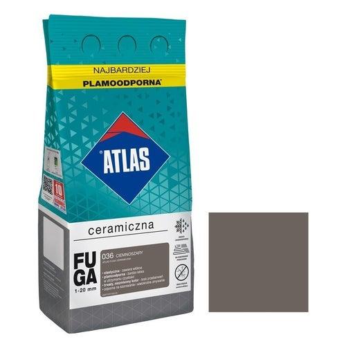 Fuga ceramiczna Atlas 036 ciemnoszary 5kg