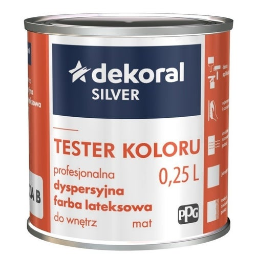 Farba dyspersyjna Dekoral Silver tester baza B 0,2 l