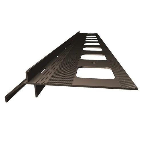 Okapnik balkonowo-tarasowy ciemnobrązowy 200 cm + elementy montażowe