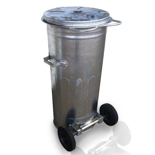 Pojemnik na odpady stalowy 110 l + koła