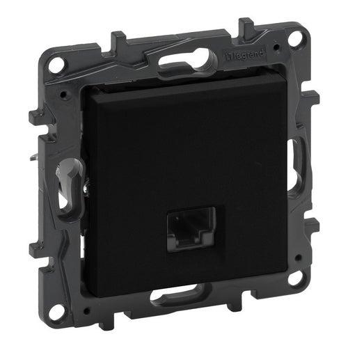Niloe step czarny gniazdo komputerowe RJ45 kat. 5e