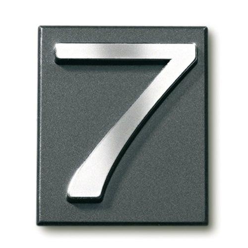 Cyfra 7 samoprzylepna grafit 4x4.7 cm