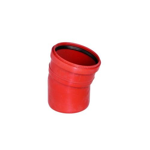 Kolano kanalizacyjne zewnętrzne, PVC fi 160 mm, kąt 15°