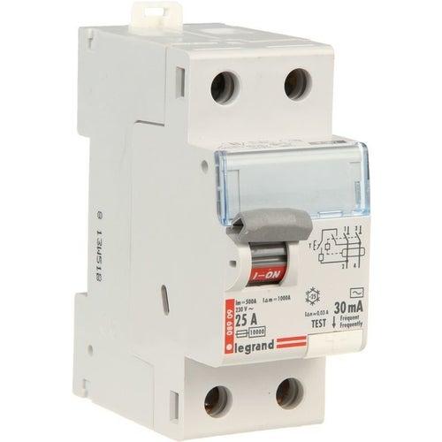 Wyłącznik różnicowoprądowy P302 2P 25A 30mA AC TX3 411509 Legrand