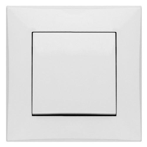 Elektroplast Lorente biały przycisk zwierny z ramką