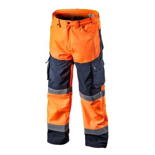 Spodnie robocze Softshell, pomarańczowe 81-751 NEO, rozm. L (52)
