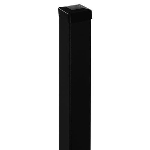 Słupek bramowy czarny, 200 cm/ 70x70 mm