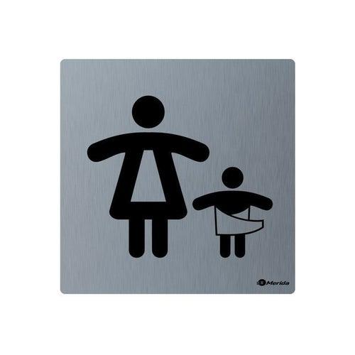 Merida piktogram ze stali nierdzewnej Toaleta Matka z dzieckiem GSM010