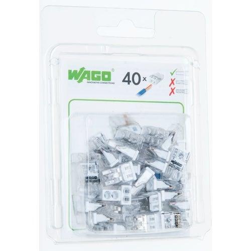 Szybkozłączka mini Wago 2x0,5-2,5mm2 40szt
