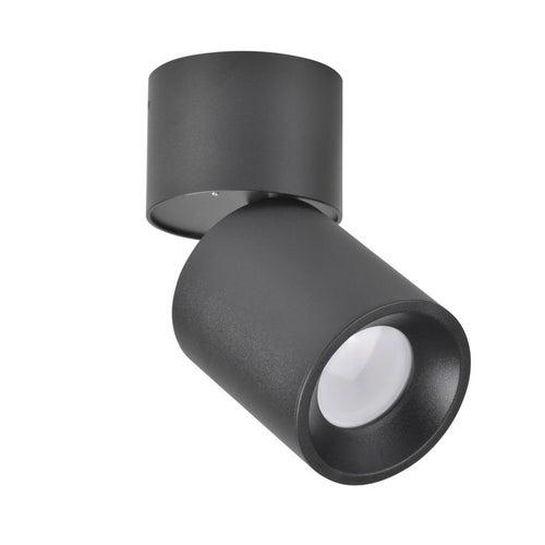 Polux oczko przegubowe natynkowe NIXA GU10 czarne