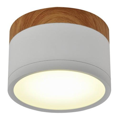 Oprawa tuba 9W LED 4000K biały drewno