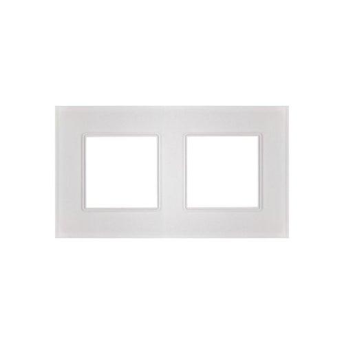 Polmark Rosa ramka szklana kryształowa biel pojdwójna
