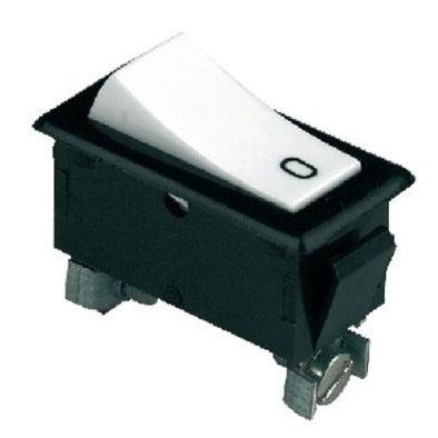 Wyłącznik kołyskowy 6A czarno-biały