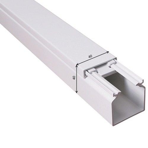 Listwa kablowa MKE 40x40mm UV biała 2m