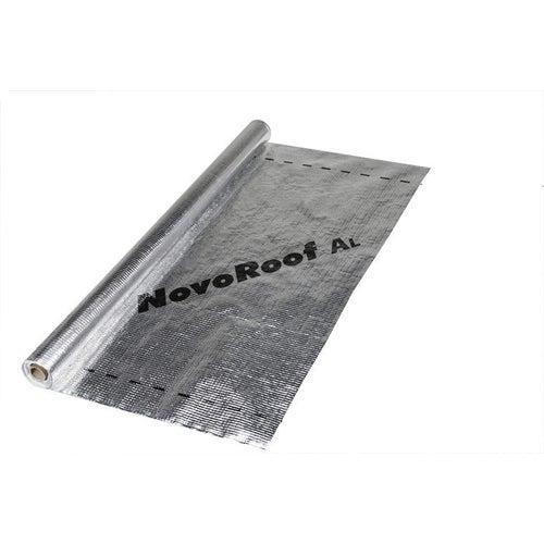 Paroizolacja z folią aluminiową 75 m2 1.5x50 m